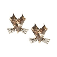 Jeweled Fox Earring|banana-republic
