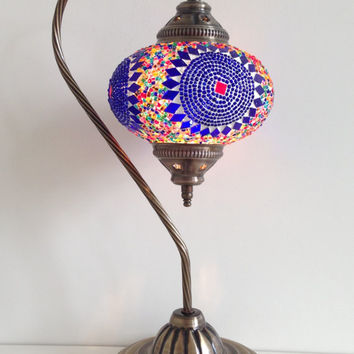 Pink Turkish Stylish Boho Mosaic Lamp From Thelampcorner On Etsy