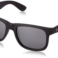 Ray-Ban JUSTIN - RUBBER BLACK Frame GREY MIRROR SILVER Lenses 51mm Non-Polarized