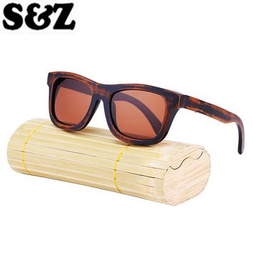 Brand Designer Original Bambooo Wooden Sunglasses Men Women Hand Made Fashion Vintage Sunglasses Polarized Mirror Wood Frame