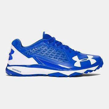 Under Armour Mens UA Deception Baseball Trainer Shoes Royal Coaches Shoe