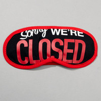 Storefront Sleep Masks | Come Back Later Sleepmask | fredflare.com