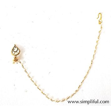 Clip on Traditional Nose Ring - Design 1