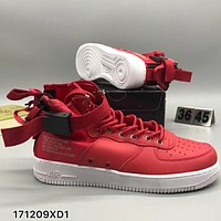 NIKE SF AF1 high tops fashion personality sports shoes F-CSXY red