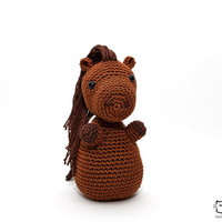 Horse Plush, Horse Stuffed Animal, Horse Amigurumi, Horse Stuffed Toy, Crochet Horse, Horse Soft Toy, Horse Handmade Toy