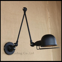 2016 Modern Art Decor Vintage Bar Long Arm Black Mechanical Wall Lighting Light Fixture Lamp Wedding E14 Led Wall Sconces