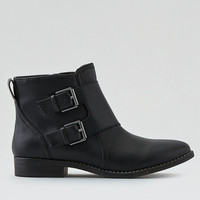 AEO Buckled Ankle Bootie , Black