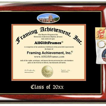 AllGiftFrames Custom Diploma Frame Embossed Clemson University Best Graduation Degree Frame Double Mat Campus Fisheye Clemson Picture Frame Cheap Degree Certificate Graduate Gift