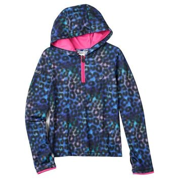 asics print popover hoodie girls 7 16 size  number 1