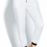 LUXE WHITE JOGGER PANTS