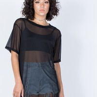 Sheer Overlay Tunic