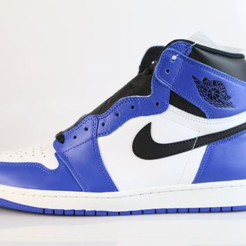 BC QIYIF Nike Air Jordan Retro 1 High OG Game Royal Black White 555088-403 Adult and GS (NO Codes)