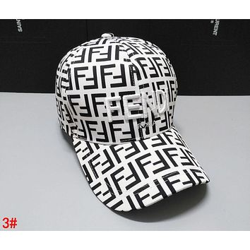 FENDI Trending Women Men Stylish Embroidery Sports Sun Hat Baseball Cap Hat 3#
