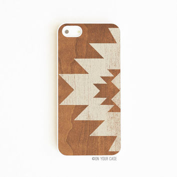 iPhone 5 Case iPhone 5S Case Aztec Geometric Stone