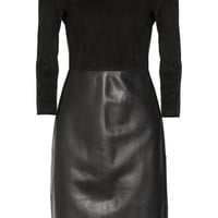 The Row|Frehnah suede and leather dress|NET-A-PORTER.COM