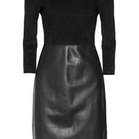 The Row | Frehnah suede and leather dress | NET-A-PORTER.COM