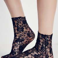 Free People Cross My Heart Lace Sock