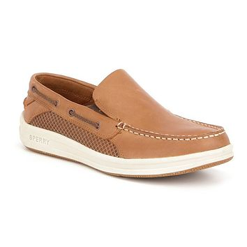 Gamefish Slip On Boat Shoe in Dark Tan by Sperry - FINAL SALE