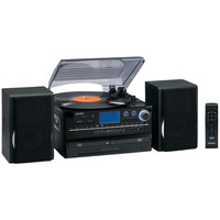 Jensen 3-speed Turntable System With Cd & Cassette Encoding