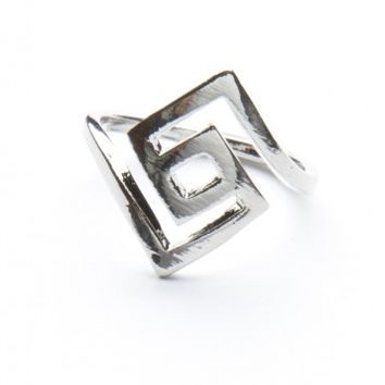 Brandy ♥ Melville |  Silver Labyrinth Ring - Just In