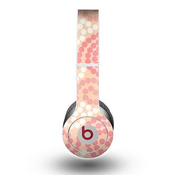 The Pink Spiral Polka Dots Skin for the Beats by Dre Original Solo-Solo HD Headphones