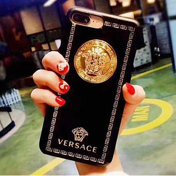 """""""Versace"""" Classic Popular Women Men Personality Hard Mobile Phone Cover Case For iphone 6 6s 6plus 6s-plus 7 7plus iPhone8 iPhone X"""