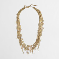 Factory golden fringe necklace