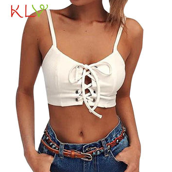 Hot 2017 New Fashion Popular Women Sleeveless Crop Tops Suitable Tube Top Backless Halter Tank Tops Blouse T-Shirt Dropship227