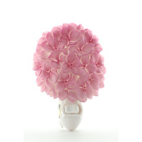 Pink Hydrangea Night Light, Ibis & Orchid Nightlights, NIB, 50186