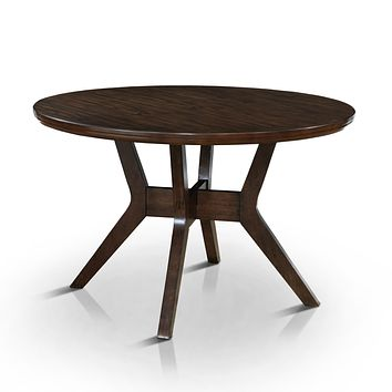 Joplin Mid-Century Modern Round Dining Table, Grey