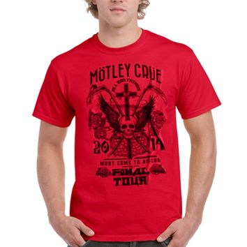 Mens Motley Crue T-Shirt All Bad Things Must Come to An End Final Tour
