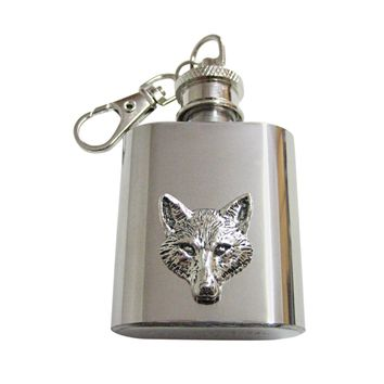 Fox Head 1 Oz. Stainless Steel Key Chain Flask