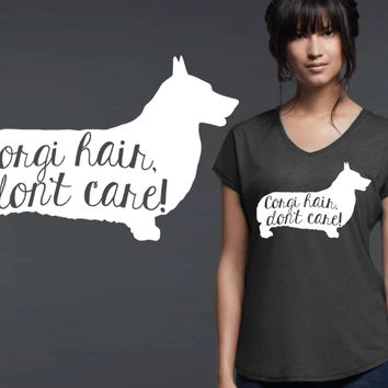 Corgi Dog Hair T-shirt