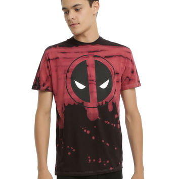 Marvel Deadpool Logo Cloud Wash T-Shirt