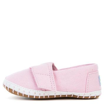 MDIGH3W Tiny Toms Crib Alpargata Pink Canvas Flat