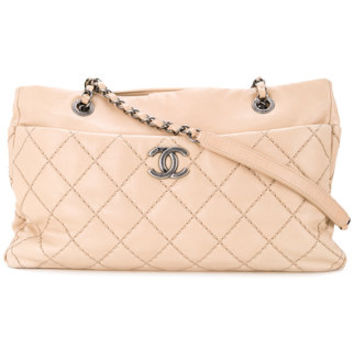 Chanel Vintage CHANEL Quilted CC Logos Chain Shoulder Bag - Farfetch