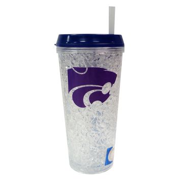Duckhouse NCAA Kansas State Wildcats  Crystal Freezer Straw Tumbler With Lid
