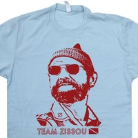 Team Zissou T Shirt The Life Aquatic T Shirt Bill Murray T Shirt Funny Scuba Diving Shirt