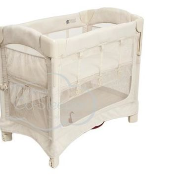 Arm's Reach Mini Ezee 2 IN 1 Baby Co-Sleeper Bedside Bassinet Natural