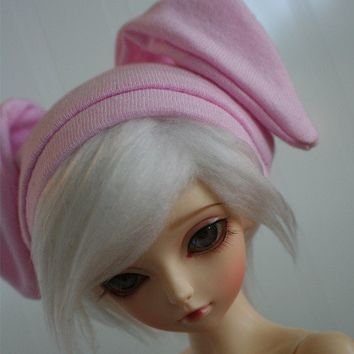 MSD/UNOA sized LIGHT PINK bunny beanie by MonstroDesigns on Etsy