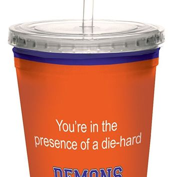 Tree-Free Greetings cc34522 Demons College Football Fan Artful Traveler Double-Walled Cool Cup with Reusable Straw, 16-Ounce