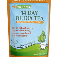 14-Day Detox Tea by Hint Wellness (43g) - Skinny Tea Detox and Body Cleanse Aids Weight Loss, Reduces Bloating and Improves Digestion - Delicious,...