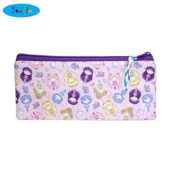 NEW! Sailor Moon Pencil Case-Anime Bag-Manga Zip Bag-Luna Pencil Pouch