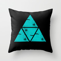 Angles VII Throw Pillow by ProfileDesign