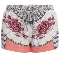 Boutique 1 - PAUL & JOE - Multi Crepe Printed Shorts | Boutique1.com