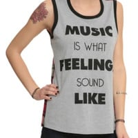 Music Feelings Plaid Girls Muscle Top