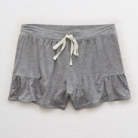 Aerie Ruffle Short, Dark Heather