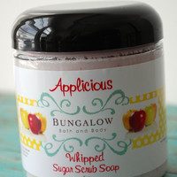 Applicious Whipped Sugar Scrub Soap - Paraben & SLS Free - 8oz New