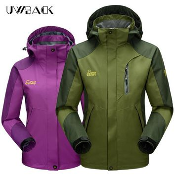 Hi-Q Male Women Outdoor Waterproof Hiking Jackets 2017 Autumn Travel Trekking Sport Rain Coat Men Climbing Mountain Jacket UA279