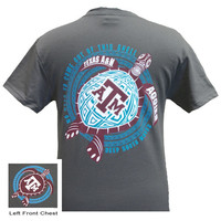 New Texas A&M Aggies Turtle Shell Wave Girlie Bright T Shirt